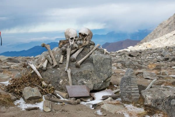 Mysteries of Different Skeletons on Lake Roopkund
